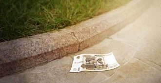 находка 1000 рублей на улице