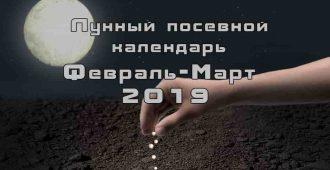 Посевной календарь февраль март 2019