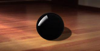 черный шарик на полу
