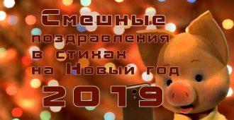 Поздравления с Новым годом 2019 прикольные, смешные, короткие смс в стихах