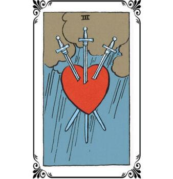Карта Таро 3 мечей: значение в любви, бизнесе, на работу и здоровье